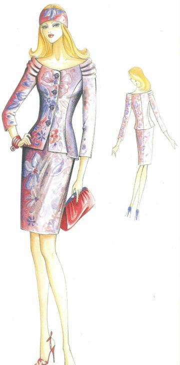 пошить женский костюм из жакета и юбки в самаре
