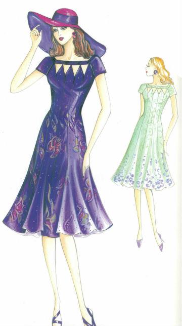 платье рельефного кроя , приталенного силуэта пошить