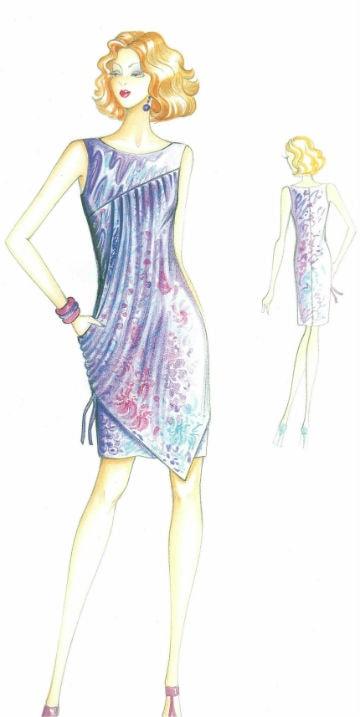 Платье приталенного силуэта с задрапированной ассиметричной деталью сшить на заказ