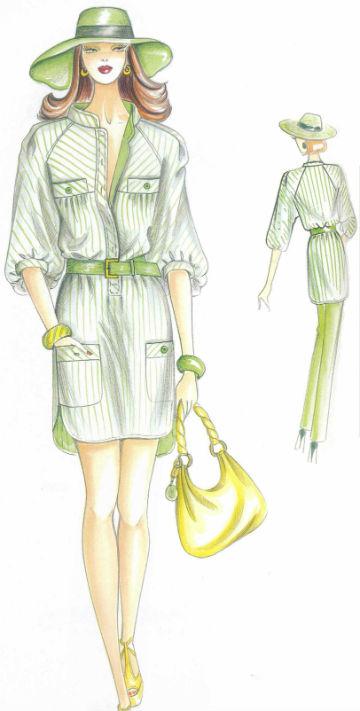 платье - рубашка прямого силуэта пошить в ателье