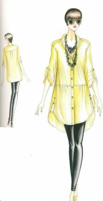 туника - рубашка с застежкой сшить в ателье